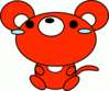 mouse toon red clip art