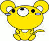 mouse toon yellow clip art
