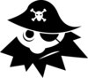 pirate abstracted clip art