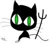wicked cat clip art