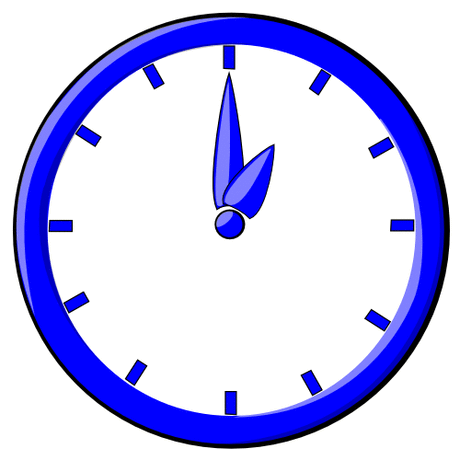 hour blue clock 01