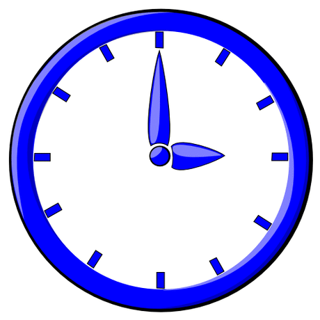 hour blue clock 03