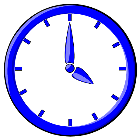 hour blue clock 04