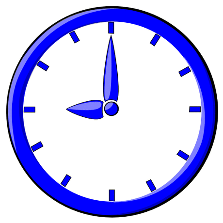 hour blue clock 09