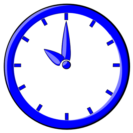 hour blue clock 10