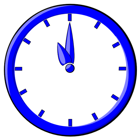 hour blue clock 11