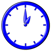 hour blue clock 01 clip art