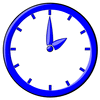 hour blue clock 02 clip art