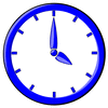 hour blue clock 04 clip art
