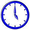 hour blue clock 05 clip art