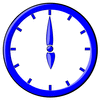 hour blue clock 06 clip art