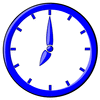 hour blue clock 07 clip art