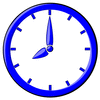 hour blue clock 08 clip art