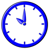 hour blue clock 10 clip art