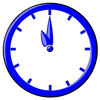 hour blue clock 11 clip art
