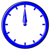 hour blue clock 12 clip art