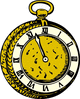 old pocket watch clip art