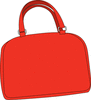 bright red purse clip art