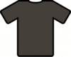 brown t shirt clip art