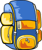 colorful backpack clip art
