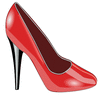 red patent leather shoe clip art