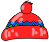 winter cap red clip art