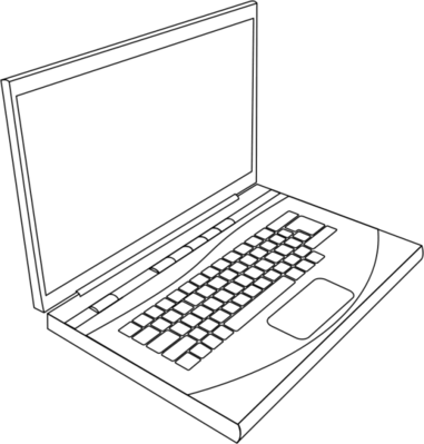 laptop line art