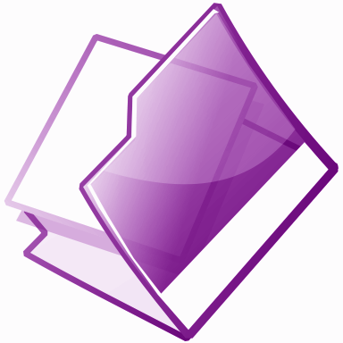 open folder purple