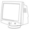 CRT Monitor line art clip art