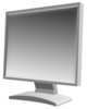 LCD monitor greyscale clip art