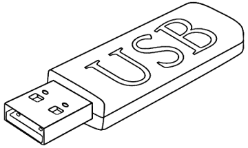 usb stick outline