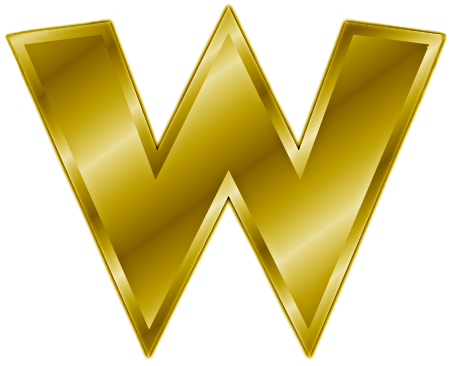 gold letter w