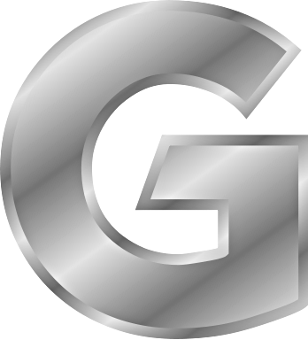 silver letter G