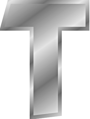 silver letter T