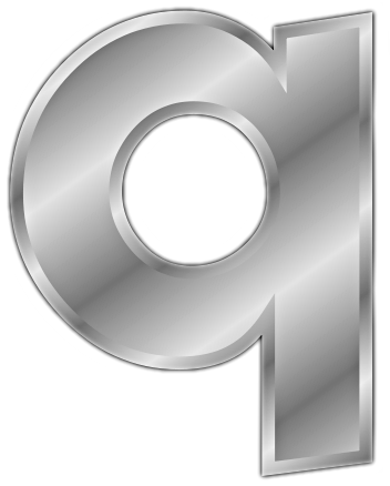 silver letter q