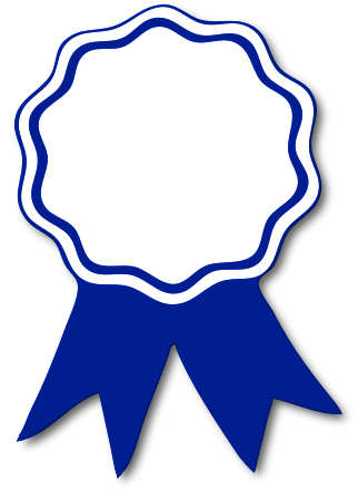 award ribbon blue