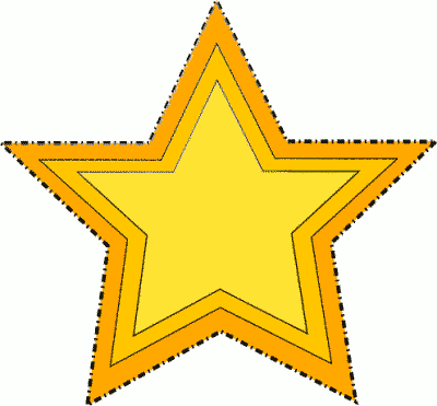gold star dotted outline