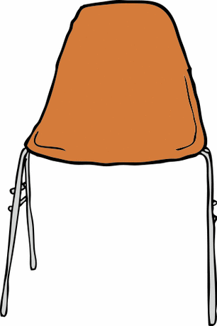 student chair front view