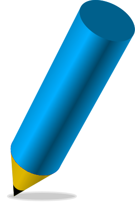 pencil stubby blue