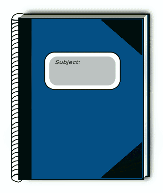 subject book blue