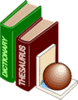 Dictionary Thesaurus 2 clip art