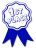 award ribbon blue 1st clip art