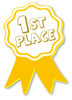 award ribbon gold 1st clip art
