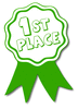 award ribbon green 1st clip art