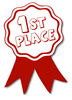 award ribbon red 1st clip art
