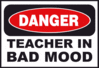 danger teacher bad mood clip art