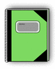 notebook green clip art