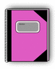notebook pink clip art