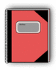 notebook red clip art