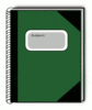 subject book green clip art